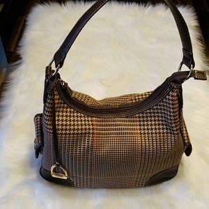 Ralph Lauren  Chaps  Houndstooth Bag